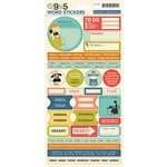 October Afternoon - 9 to 5 Collection - Cardstock Stickers - Words