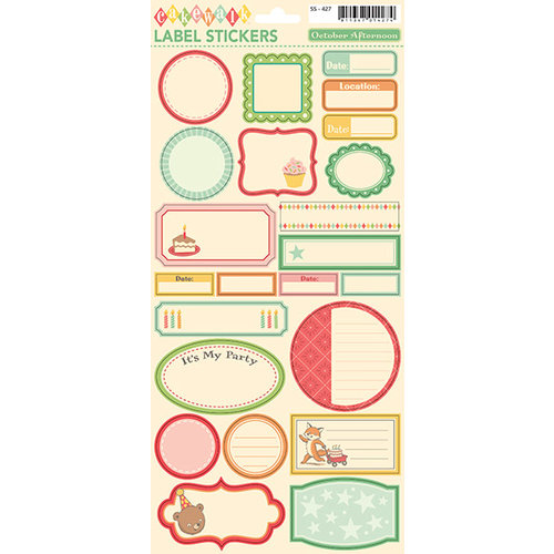October Afternoon - Cakewalk Collection - Cardstock Stickers - Labels