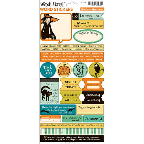 October Afternoon - Witch Hazel Collection - Halloween - Cardstock Stickers - Words