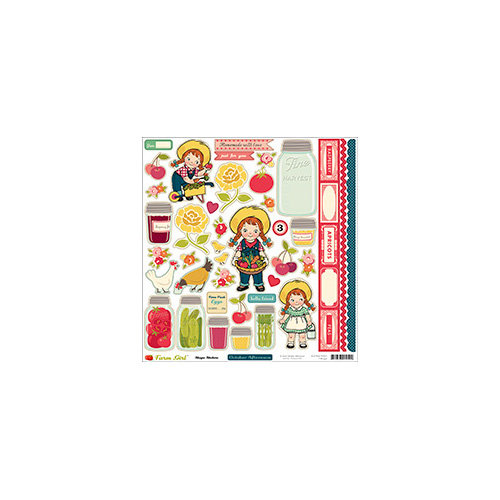 October Afternoon - Farm Girl Collection - 12 x 12 Cardstock Stickers - Shapes