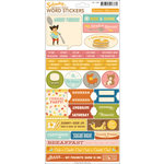 October Afternoon- Saturday Mornings Collection - Cardstock Stickers - Words