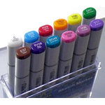 Too Corporation - Copic Ciao - Sketch Dual Tip Markers - 12 Piece Set - Basic Brights