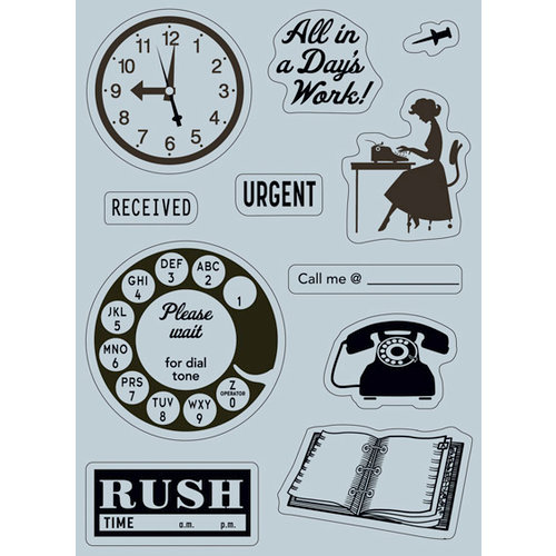 October Afternoon - 9 to 5 Collection - Cling Mounted Rubber Stamps - Images