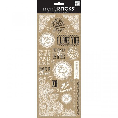 Me and My Big Ideas - MAMBI Sticks - Clear Stickers - Lacey Love Sayings