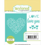 Taylored Expressions - Die - Hearts A Flutter Cutting Plate