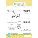Taylored Expressions - Cling Stamp - In and Out - Thanks
