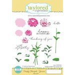 Taylored Expressions - Cling Stamp - Simply Stamped - Zinnias