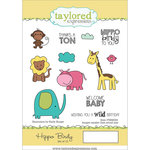 Taylored Expressions - Cling Stamp - Hippo Birdy