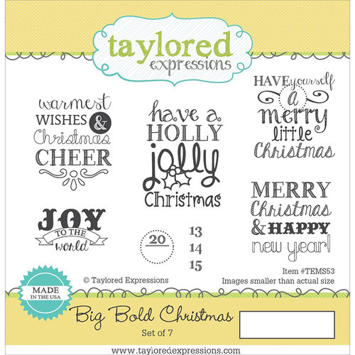 Christmas Expressions.Taylored Expressions Big Bold Christmas Stamp