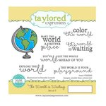 Taylored Expressions - Cling Stamp - The World Is Waiting