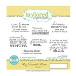 Taylored Expressions - Cling Stamp - My Favorite Mom
