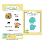 Taylored Expressions - Cling Stamp and Die Set - Peeking In