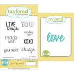 Taylored Expressions - Cling Stamp and Die Set - Love You More