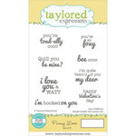 Taylored Expressions - Cling Stamp - Punny Love