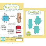 Taylored Expressions - Cling Stamp and Die Set - Souper Soon