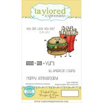 Taylored Expressions - Cling Stamp - Perfect Pairs - Burger and Fries