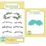 Taylored Expressions - Cling Stamp and Die Set - Fancy Banner One