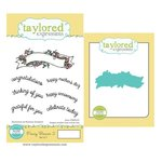 Taylored Expressions - Cling Stamp and Die Set - Fancy Banner Two