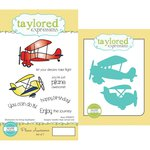 Taylored Expressions - Cling Stamp and Die Set - Plane Awesome