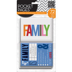 Me and My Big Ideas - Pocket Pages - Themed Cards - 3 x 4 - Family