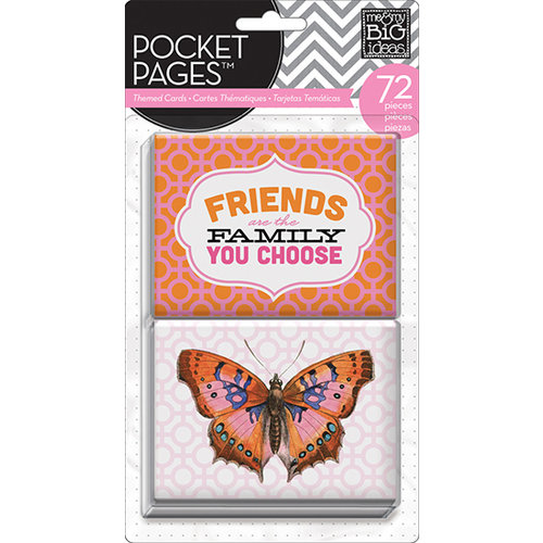 Me and My Big Ideas - Pocket Pages - Themed Cards - 3 x 4 - Friends