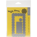 Waffle Flower Crafts - Craft Die - Surface Tag - Scallop Add-On