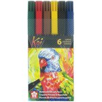 Sakura - Koi Coloring Brush Pens - 6 Pack