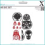 Docrafts - Xcut - A5 Die Set - Russian Dolls
