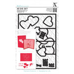 Docrafts - Xcut - A5 Die Set - Pop Up Card Love