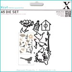 Docrafts - Xcut - A5 Die Set - Mixed Birds