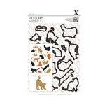 Docrafts - Xcut - A5 Die Set - Mixed Cats