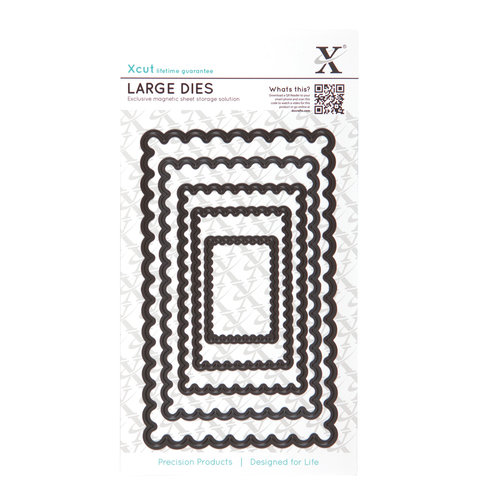 DoCrafts - Xcut - Nesting Dies - Large - Scalloped Rectangle