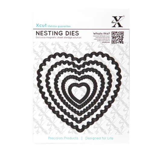 DoCrafts - Xcut - Nesting Dies - Scalloped Heart