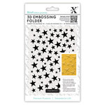 DoCrafts - Xcut - Universal A6 Embossing Folder - 3 Dimensional Stars