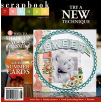 Scrapbook Trends Magazine - August 2009, BRAND NEW