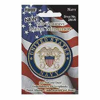 Pioneer - Self Adhesive Metal Medallion - Navy