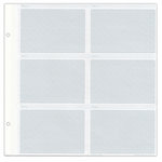 Pioneer - Le Memo Photo Albums Refill Pages - Holds Six 4 x 6 Inch Photo Pockets Per Page - 5 Pack