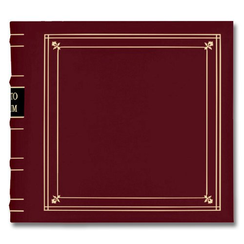 Pioneer - 2-Up Bonded Leather Album 3 Ring - 200 Pockets - Burgundy
