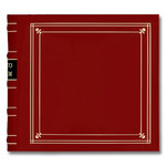 Pioneer - 2-Up Bonded Leather Album 3 Ring - 200 Pockets - Red
