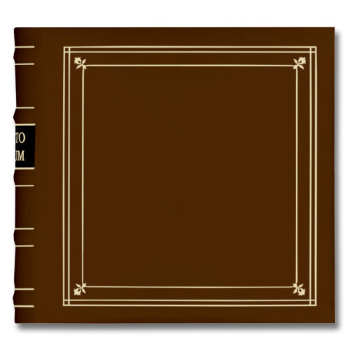 Pioneer - 2-Up Bonded Leather Album 3 Ring - 200 Pockets - Brown Tan