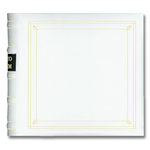 Pioneer - 2-Up Bonded Leather Album 3 Ring - 200 Pockets - White