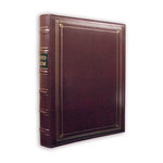 Pioneer - 3-Up Bonded Leather Album 3 Ring - 204 Pockets - Burgundy