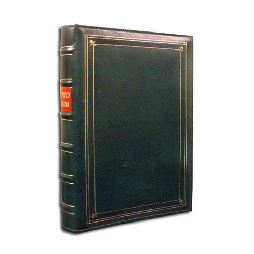 Pioneer - 3-Up Bonded Leather Album 3 Ring - 204 Pockets - Hunter Green