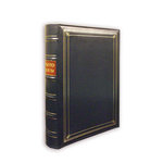 Pioneer - 3-Up Bonded Leather Album 3 Ring - 204 Pockets - Navy
