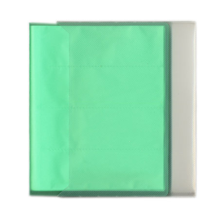Pioneer - Space Saver - 2-Up Poly Photo Album - 72 Slip-In Pockets - Green