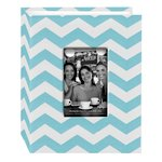 Pioneer - Fabric Chevron 100 Pocket Photo Album - Aqua
