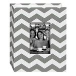 Pioneer - Fabric Chevron 100 Pocket Photo Album - Grey