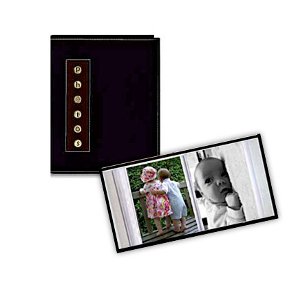Pioneer - 36 4x6 Inch Photo Pockets - Brag Metal Button Sewn Album - Black