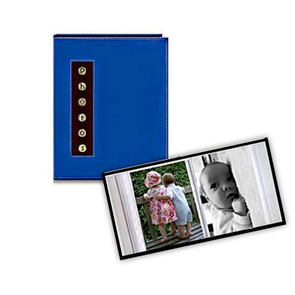 Pioneer - 36 4x6 Inch Photo Pockets - Brag Metal Button Sewn Album - Blue