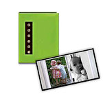 Pioneer - 36 4x6 Inch Photo Pockets - Brag Metal Button Glossy Album - Green